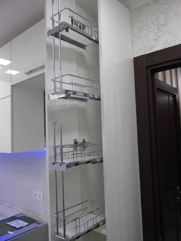 Белый кухонный гарнитур-Кухня из пластика «Модель 143»-фото4