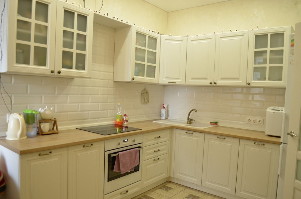 Белый кухонный гарнитур-Кухня МДФ в эмали «Модель 219»-фото4