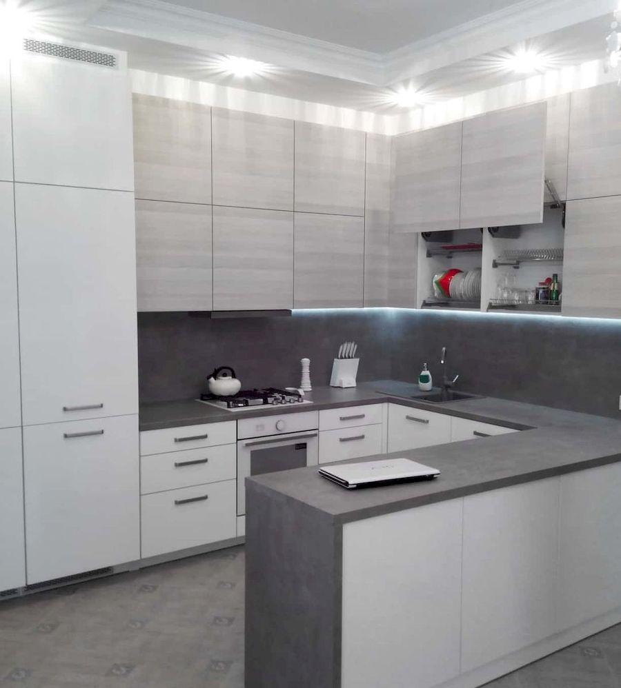 Белый кухонный гарнитур-Кухня из ЛДСП «Модель 650»-фото1