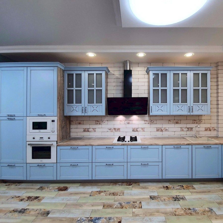 Дорогие и элитные кухни-Кухня МДФ в эмали «Модель 524»-фото3