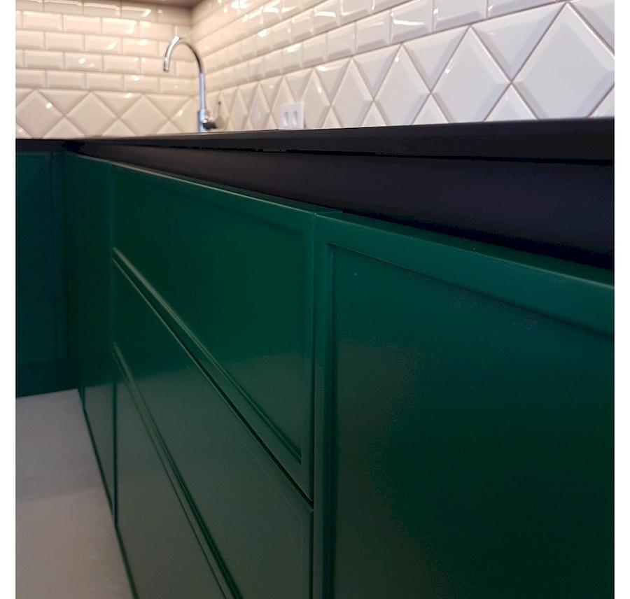 Купить зеленую кухню-Кухня МДФ в эмали «Модель 599»-фото3