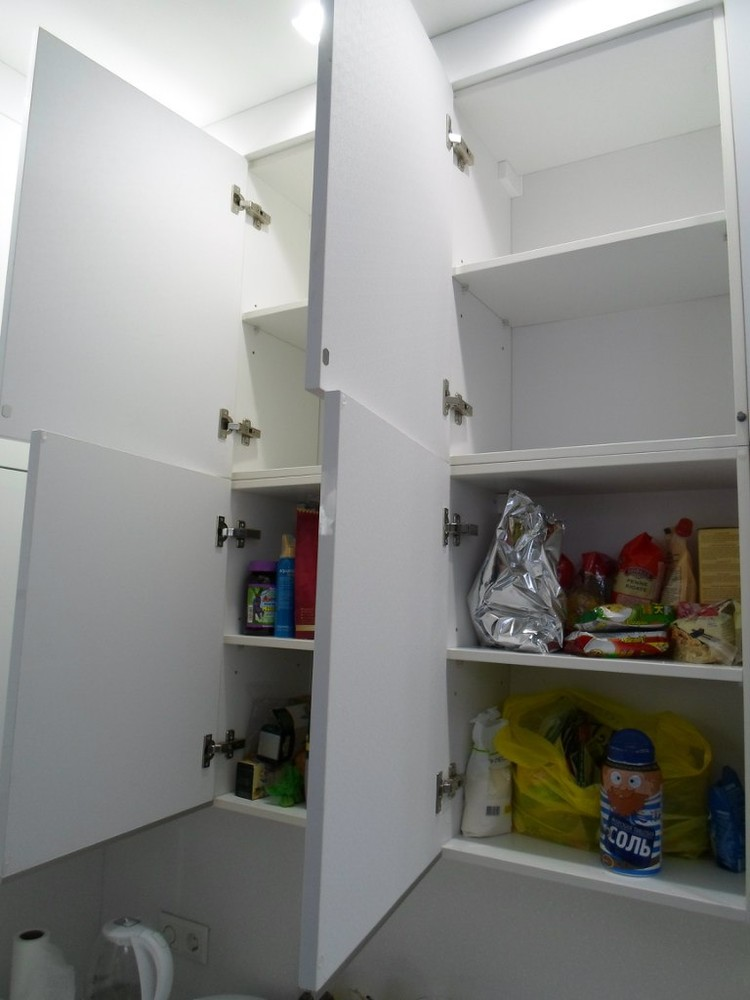 Акриловые кухни-Кухня МДФ в эмали «Модель 203»-фото5
