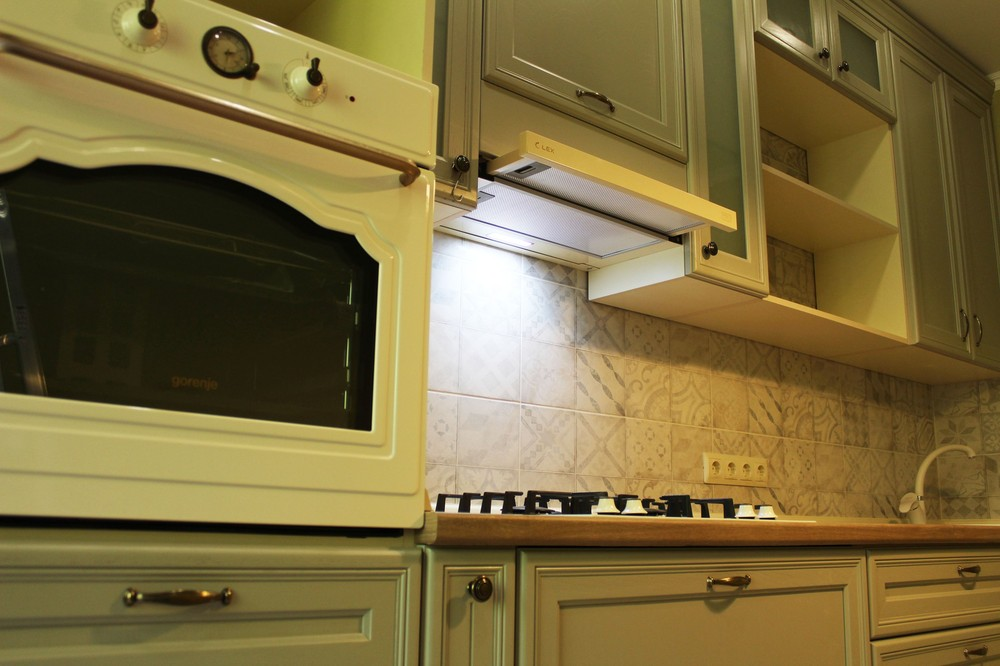 Встроенная кухня-Кухня из массива «Модель 172»-фото4