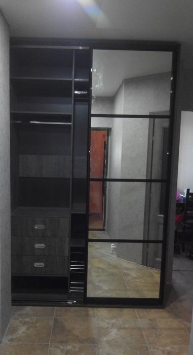 Встроенные шкафы-купе-Шкаф-купе с зеркалом «Модель 58»-фото5