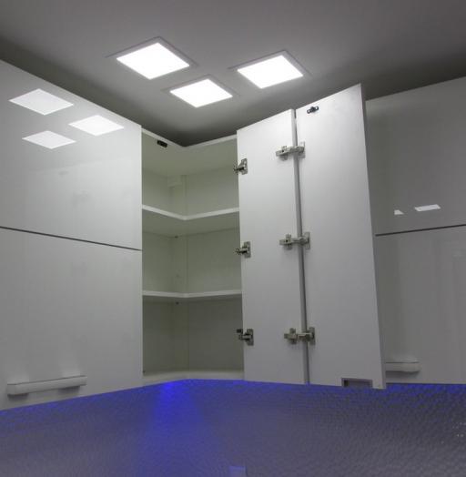 Белый кухонный гарнитур-Кухня из пластика «Модель 143»-фото7