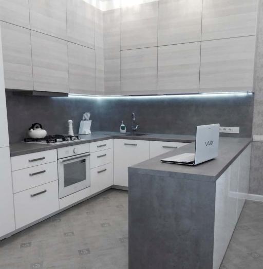 Белый кухонный гарнитур-Кухня из ЛДСП «Модель 650»-фото4