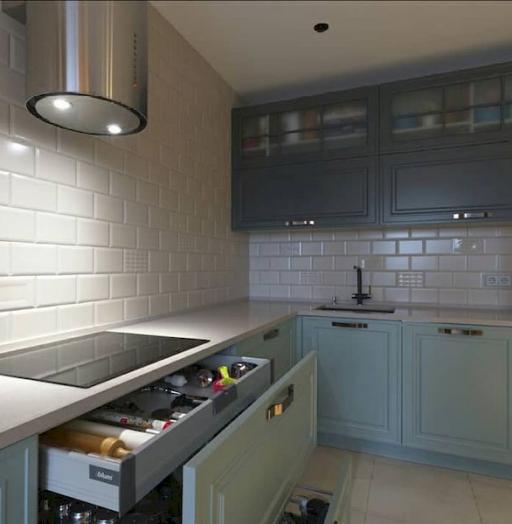 -Кухня МДФ в эмали «Модель 683»-фото16